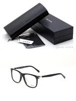 Wholesale lightweight prescription eyeglasses - NEW Brand VPS13P unisex high-quality pure-plank fashion big-frame prescription glasses with original case OEM factory price freeshipping