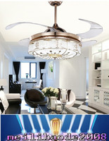 Wholesale Led Fancy Lights - NEW Flushmount Ceiling Fan with light for dining room fancy ceiling lamp with fan AMYY
