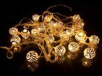 ingrosso luci fatate-Xmas Lighting Decor 4m 20LED Iron Ball Lampadine LED Fairy Lamp Curtain Light Ideale Matrimonio Albero di Natale Party Globe LED String Lights CE ROSH
