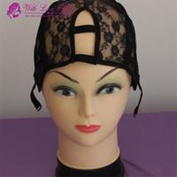 Wholesale Wholesale U Part Wig Caps - U part wig cap Lace weave hair caps U shape Middle right left u part can choose