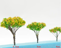 Parts Metal BJ Yellow flower trees height 4cm 5cm 6.5cm for sand toy building