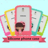 Wholesale Iphone Border Cases - For iPhone 5 5S PC Samsung S5 S4 Silicone Case Xiao xi Phone shell border For iphone 4 Cartoon Border Factory wholesale