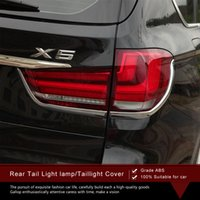 Wholesale Bmw X5 Tail Lights - High Quality ABS Protective Chrome Rear Tail Light lamp Cover Taillight Cover Car Styling Accessories 4pcs set for 2014 BMW X5