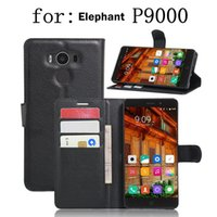 Wholesale Mobilephone Cases - Elephone P9000 Wallet phone case Lichee PU Leather and TPU defender cover protective phone shell mobilephone accessories