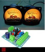 iluminación del amplificador al por mayor-Al por mayor-2pcs Panel VU Meter cálido Back Light Audio Nivel Amp + One tablero del conductor
