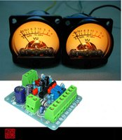 Wholesale Panel Meters - Wholesale-2pcs Panel VU Meter Warm Back Light Audio Level Amp + One driver board