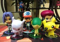 Wholesale Charizard Action Figure - 6pcs set Pikachu Figures Charizard Mewtwo Mew Lucario Eevee PVC Action Figure Kids Toys