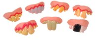 Wholesale Fake Teeth - Wholesale- 5P April Fool's Day party Funny punishment props Funny zombie vampire teeth teeth fool toys tricky Halloween funny fake Many +B