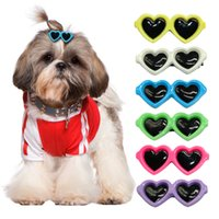 Wholesale Dog Hair Bows Clips - Wholesale 35pcs lot Cute Sunglass Shape Dog Puppy Hair Clips Kitten Hair Bows Pet Hairpin Grooming Accessories