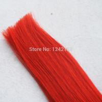 remy haar grade 6a großhandel-Brasilianische Haarwebart Bundles Grade 6A Rot Brasilianisches Reines Remy-menschliches gerades Haar 1 Stücke Super Star Hair Products