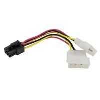video pci e groihandel-Großhandels- 4Pcs Qualitäts-2 x Molex zu PCI-E Energien-Adapter 4Pin 4 Pin 6 Pin 6Pin Grafik-Videokarte-Konverter-Kabellinie