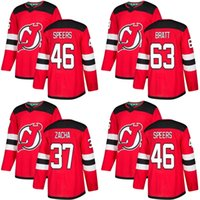 Wholesale Custom Hockey Jerseys Cheap - Cheap Wholesale 2018 2017 New Brand Men New Jersey Devils 46 Blake Speers 63 Jesper Bratt 37 Pavel Zacha Red Custom Hockey Jerseys