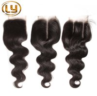 Wholesale unice hair resale online - 1PC Lace Closure Peruvian Hair Body Wave With Closure A Unprocessed Hair Weave Closures Unice Peruvian Body Wave Lace Closure