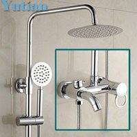Wholesale Copper Shower Faucets Controls - Free shipping Bathroom Mixer Bath Tub Copper Mixing Control Valve Wall Mounted Shower Faucet concealed faucet YT-5335