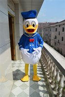 Wholesale HOT Donald Duck Daisy Duck Cartoon Mascot Costume Christmas And Halloween Party fancy dress