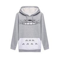 Wholesale Best Long Shirt Fashion - Best Sellers Woman Totoro Cartoon Printing Long Sleeve Even Midnight Set Hoddies Women Shirts Man Sweatshirt Clothes 3d Tshirt Sport Suit