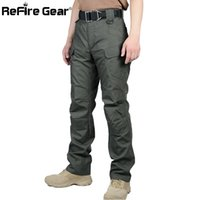 Wholesale Black Military Pants Men - x201710 ReFire Gear Waterproof Tactical Military Pants Men Cotton Rip-stop SWAT Soldier Combat Trousers Casual Pockets Army Cargo Pants