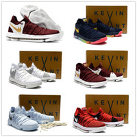 Wholesale Kd Womens - 2017 Hot Sale KD 10 Kids Womens Mens Basketball Shoes for Kevin Durant Children KD X EP Airs Cushion Sports Sneakers Youth Children's 36-46