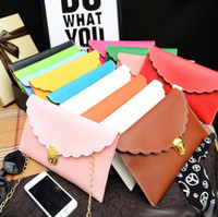 Wholesale Hot Sell Bags - Sell like hot cakes Women Fashion scalloped edges envelope clutch bag lady shoulder bags with chain Handbag Tote Bag christmas