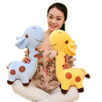 Wholesale Big Giraffe Stuffed Animal - New Arrival Big Giraffe Plush Toys Cartoon Stuffed Animals Doll Soft Baby Pillow Toys High Quality Christmas Valentines Gift for Kids Gilrs