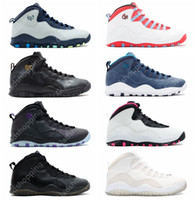 Wholesale ups nyc - 10 Paris NYC CHI Rio LA Hornets City Pack Vivid Pink Men Women Basketball Shoes Sneakers 10s X Sport Shoes