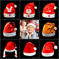 Wholesale Socks Child Decoration - Santa Claus Hat Cute Gifts Adult Children Cosplay Super Soft High Grade Short Plush Hats Christmas Decoration 4 8qy F R