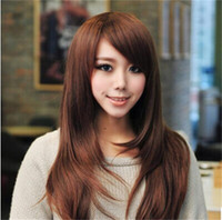 Soft Degre Hair Sexy Fashion Long perruque de cheveux synthétique Lady's perruque pleine perruque de cosplay perruque cadeau gratuit