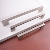 96MM 128MM 160MM fashion hot sale aluminum Alloy nickel polish furniture cabinet cupboard dresser drawer desk closet pull handle