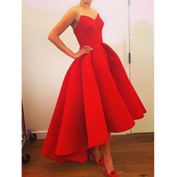 Wholesale Sexy Bosom - free shipping 2016 new style Sexy strapless dress that wipe a bosom Trailing after short before long rockabilly dress S-XL