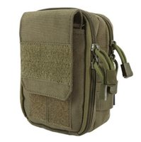 Wholesale Wholesale Briefcase Bags - 2017 New Tactical Military Hunting Small Utility Pouch Pack Army Molle Cover Scheme Field Sundries Bags Outdoor Sports Mess Briefcase