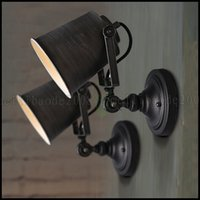 Wholesale Fabric Chic - Retro Iron Swing Arm Light Wall Fixtures Wall Lamp Chic Lighting Loft Sconce LLWA083