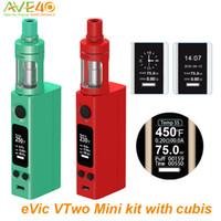 Wholesale Joytech Electronic Cigarettes - Authentic Joyetech Evic vtwo Mini Cubis Electronic Cigarettes evic vtwo mini kit with 3.5ml Cubis Atomizer Tank vs Joytech evic vtc mini vt