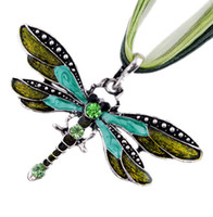 Wholesale White Gold Dragonfly Jewelry - Fashion Necklaces For Women Collar 2015 Summer Jewelry Gold Dragonfly Necklace Charms Animal Alloy Rope Fine Jewelry