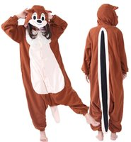 Wholesale Costume Tails Squirrel - SS Easter Anime Lovely Brown Long Tail Squirrel Cosplay Onesie Adult Unisex Jumpsuit Pajamas Halloween Christmas Party Costumes