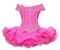 Wholesale Lace Cupcake Collars - Hot Pink Horizontal Collar Neck Lace Sequins Ruched Ruffles Little Girls Mini skirt Infant Cupcakes Toddler pageant Dress