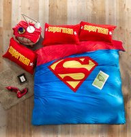 Wholesale Superman Duvet Cover - 200*230CM Captain America Crystal Bedding Set Iron Man Sheets Superman Quilt Cover for Kids Bedroom Decor