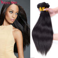 Wholesale Silky Human Hair Weave - Straight Peruvian Hair Unprocessed Virgin Human Hair 3 Bundles Silky Cheap Straight Brazilian Malaysian Indian Peruvian Hair Weave Bundles