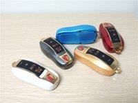 Wholesale Wireless Remote Control Car Keys - Car Key Shape Mini Bluetooth Speaker Wireless Portable Subwoofer Loud Stereo Speakers with FM Radio TF + Remote Control Selfie Shutter DHL