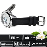 Wholesale Spy Watch 16g Ir - New 16GB HD 1080P IR Night Vision Camera Waterproof Watch Camera SPY DVR Camcorders Cam