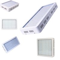 Wholesale led grow house - 1000W Full Spectrum LED Grow Light square double chip LED Grow Light for hydroponics plant growing lights white housing body or black