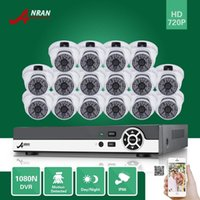ANRAN 16CH HDMI 1080N DVR 16PCS 720P impermeável HD Home CCTV Security Camera System Surveillance Kit