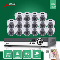 Wholesale Home Security Cctv 16ch - ANRAN 16CH HDMI 1080N DVR 16PCS 720P Waterproof HD Home CCTV Security Camera System Surveillance Kit