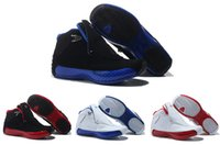 Wholesale Original Quality - 2016 Original Quality Air Retro 18 Mens Basketball Shoes black and blue Sport Shoes Retro 18 Athletics Sport Sneaker Size 8-13