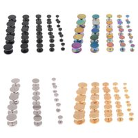 Wholesale Stainless Stretcher - 6-14mm Ear Plugs Tunnels Gauges Fake Ear Stud Stretcher Earring Piercing Stainless Steel Body Jewelry 10Pcs HOT[BB158-BB161*10]
