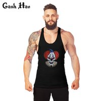 All'ingrosso-Gash Hao Sexy Muscle Men Vivid Colourful Powerlifting Strato Base Activewear Workout Sleeveless Abbigliamento Muscolazione Undershirt