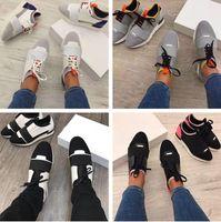 renkli eğiticiler toptan satış-2017 Yüksek Kaliteli Yarış Koşucu Ayakkabı Kadın Rahat Ayakkabı adamın Moda Renkli Patchwork Mesh Karışık Renkler Trainer Sneakers Kutusu Ile Boyutu 46