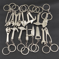 Wholesale changeable car - Creative Tool Zinc Alloy Silver Plated Changeable Spanner Keychain Adjustable Wrench Key Chain Ring Keyring Metal Keychain