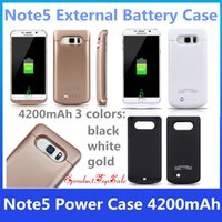 Power Case 4200mAh Rechargable Funda de batería externa para Samsung Note 5 Caja de cargador de reserva portátil Power Bank Caja Pack para Note5 En stock