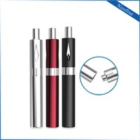 Wholesale E Health Batteries - Health Care Portable 0.8 ml E-cig 510 Vaporizer Pen Starter Kit Vape With Wireless USB Charger Battery Box Original Bud Nicefree