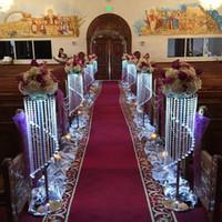 bolo de casamento de mesa superior venda por atacado-Espumante Crystal clear guirlanda de casamento bolo carrinho de aniversário suprimentos decorações para mesa de centro peças centrais